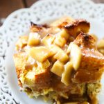 Overnight Caramel Apple French Toast Casserole