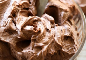 This Chocolate Buttercream is perfection! It is light and fluffy and has the perfect chocolate touch! It is my go-to chocolate frosting recipe!