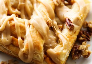 Caramel Pumpkin Puff Pastry... This dessert is unbelievable! It comes together so quickly and melts in your mouth! The caramel-pumpkin combo is perfect for the holiday season!