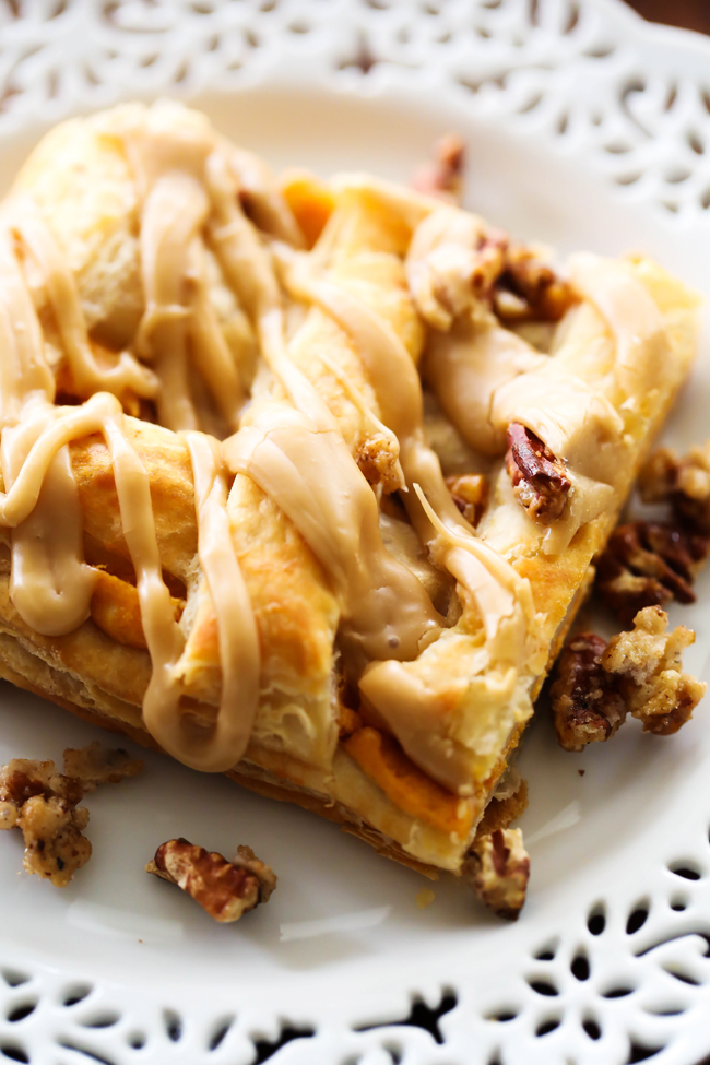 caramel pumpkin puff pastry chef in training