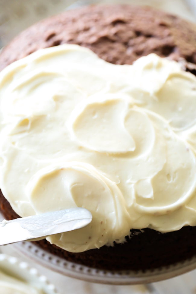 This cream cheese frosting is perfection! Smooth, fluffy and absolutely delicious!