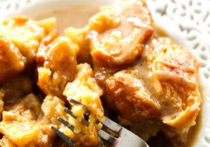 This recipe is easily the BEST bread pudding I have ever made! The flavor is absolute perfection! The croissants provide a buttery flakey texture that just melts in your mouth. The caramel Buttermilk Syrup that is poured over the top of the bread pudding truly completes the dish!