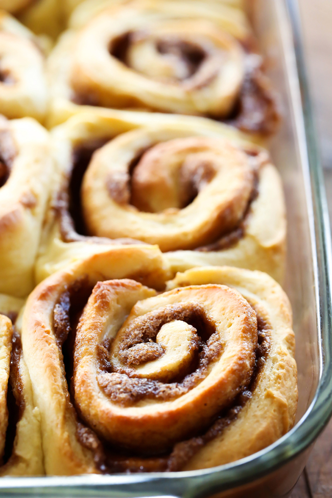 Eggnog Cinnamon Rolls... These cinnamon rolls are absolutely DELICIOUS and perfect for the holidays! The bread is soft and they are ooey gooey perfection. The Eggnog Frosting on top is absolutely heavenly and a fantastic addition to the rolls!