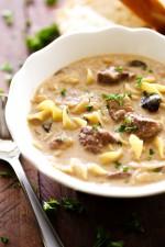 Beef Stroganoff Soup