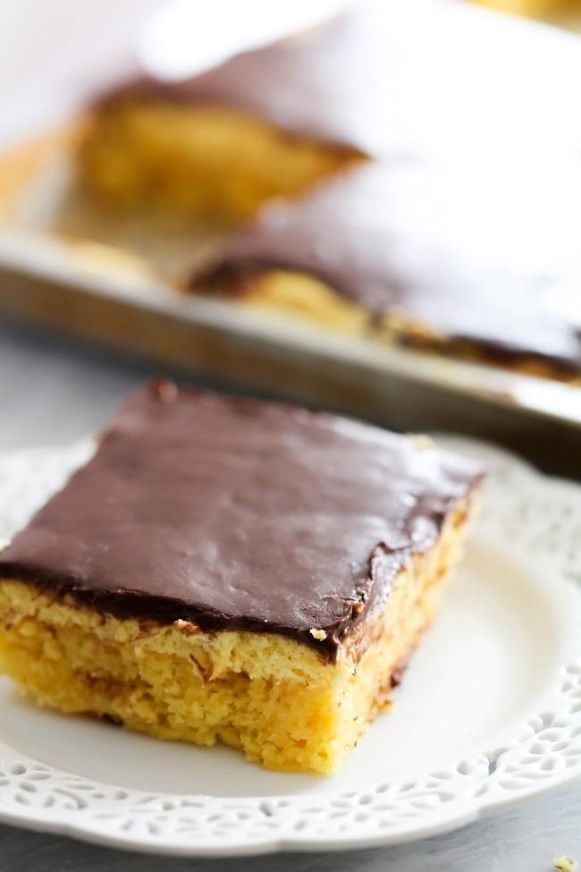 Boston Cream Pie Sheet Cake Recipe