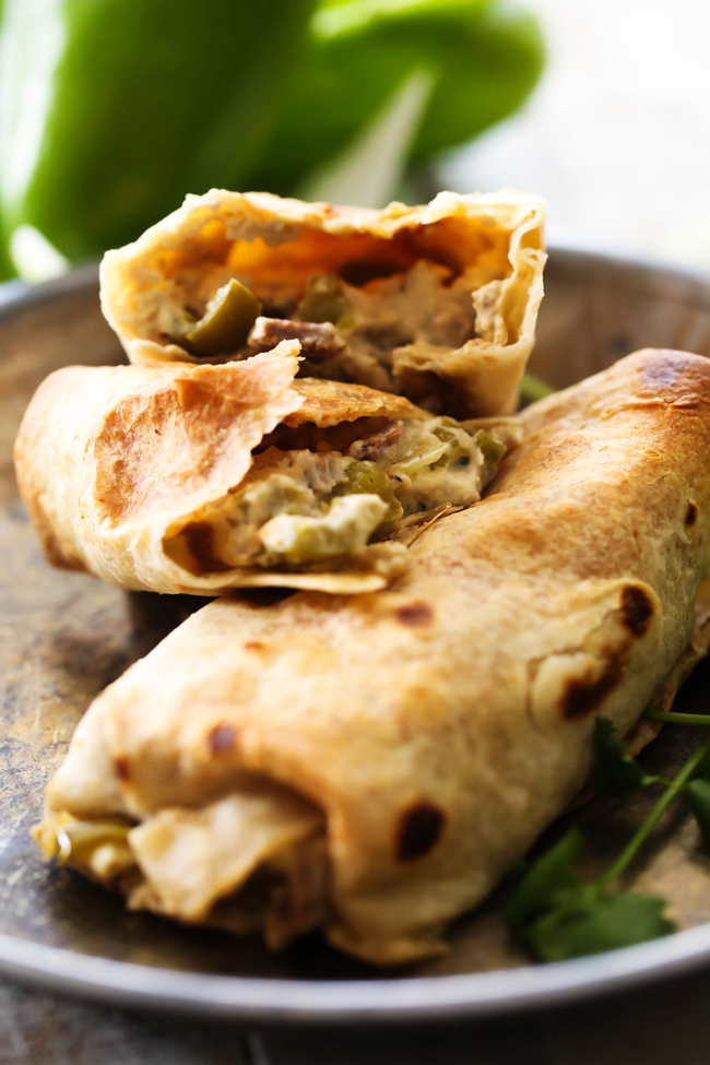 Philly Cheese Steak Chimichangas... This takes a classic favorite and gives it a new look. All your favorite cheese steak ingredients stuffed inside a delicious chimichanga. The flavor is amazing and it couldn't be easier to make! This will quickly become a new favorite!