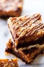 Layered Samoa Brownies