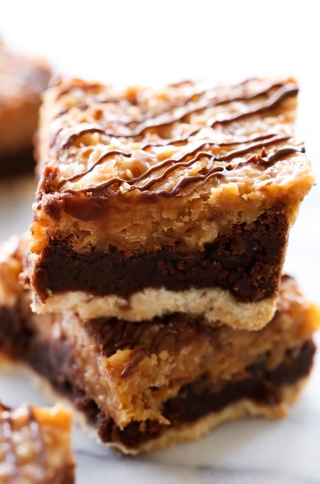 layered samoa brownies chef in training
