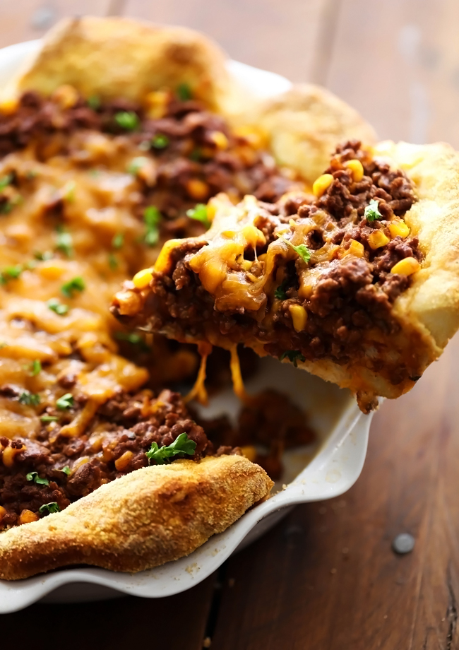 Sloppy Joe Pie... Everything you love about Sloppy Joes baked into a delicious pie that is packed with flavor and super simple to make! This will quickly become a new family favorite!