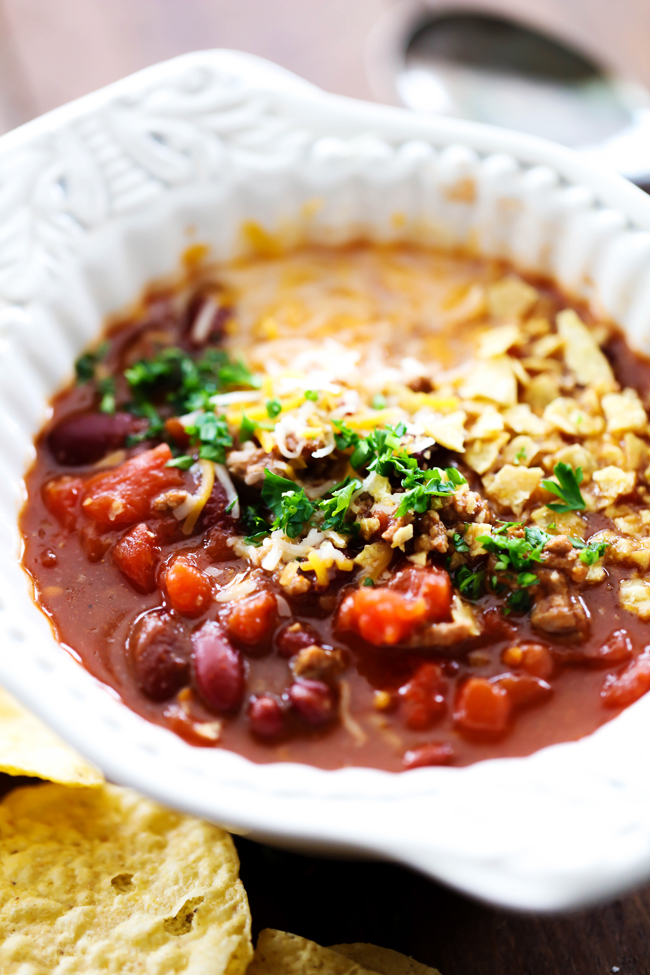 BEST EVER TACO SOUP... This soup is packed with yummy ingredients and flavor! It is super easy to whip up and loaded with protein. It is perfect for a chilly day or when you need dinner in a hurry.