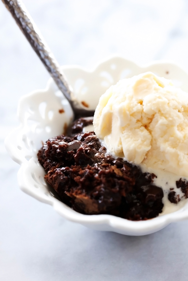 Hot Fudge Pudding Cake - Chef in Training