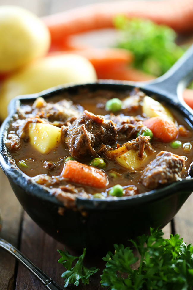 Slow Cooker Beef Stew... A hearty and delicious beef stew that is loaded with yummy vegetables and incredible flavor! This is a great meal for busy days!