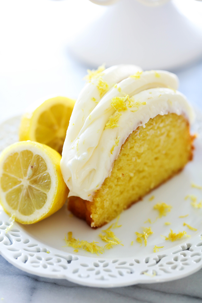 Lemon Bundt Cake With Pudding And Sour Cream
