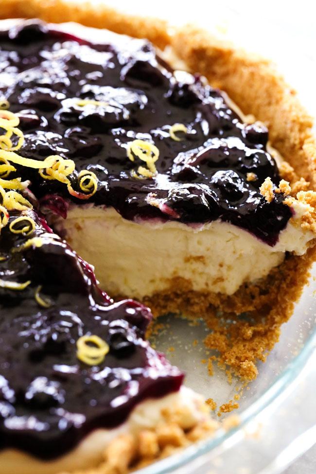 Lemon blueberry cream pie chef in training for Lemon meringue pie with graham cracker crust
