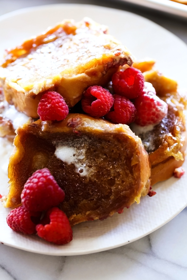 Overnight Raspberry Creme Brûlée French Toast is super easy! All the ...