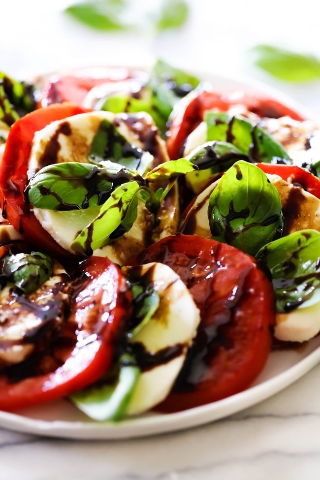 Caprese Salad with Balsamic Glaze - Chef in Training