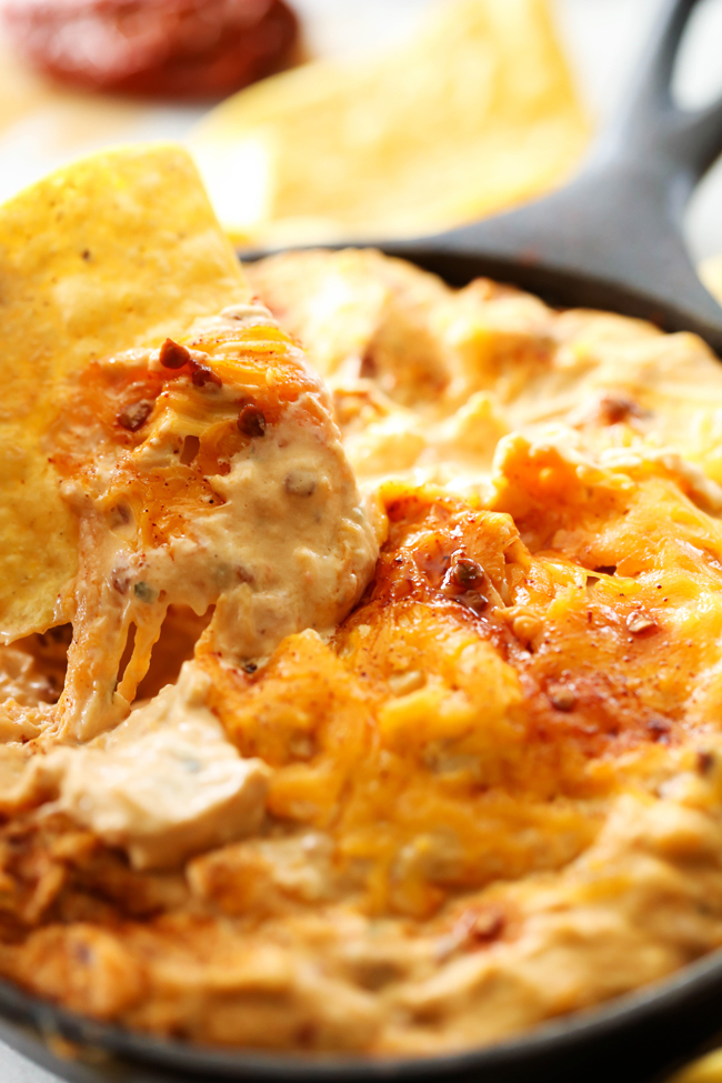 Chipotle Chicken Ranch Dip... A delicious smooth and creamy dip that is both cool with a kick of heat! The chipotle peppers paired with the ranch flavor really provide a flavor explosion you will never forget!