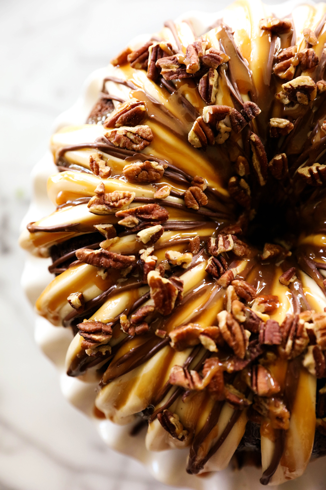 Chocolate Salted Caramel Bundt Cake