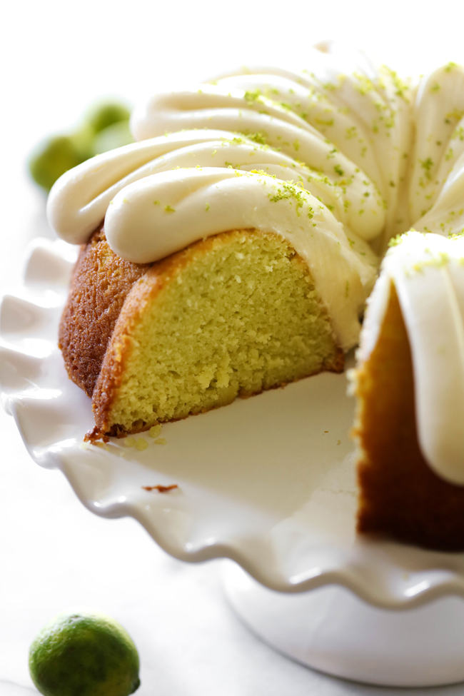 Key Lime Bundt Cake With Cream Cheese Frosting