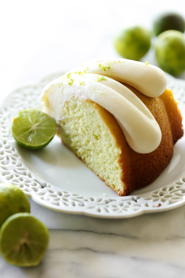 Key Lime Bundt Cake Cream Cheese Frosting