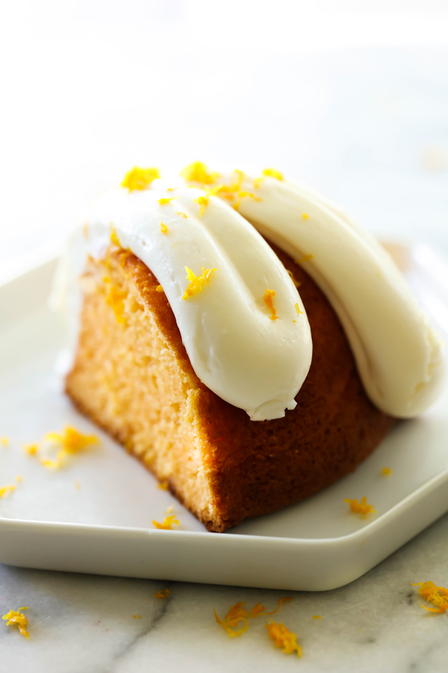 This Orange Creamsicle Bundt Cake is so moist and has such a refreshing flavor. It is loaded with a zesty orange taste and topped with an incredible cream cheese frosting.