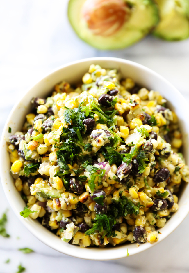This Mexican Street Corn Salad is such a delicious and flavorful side dish that is jam packed with healthy and tasty ingredients.