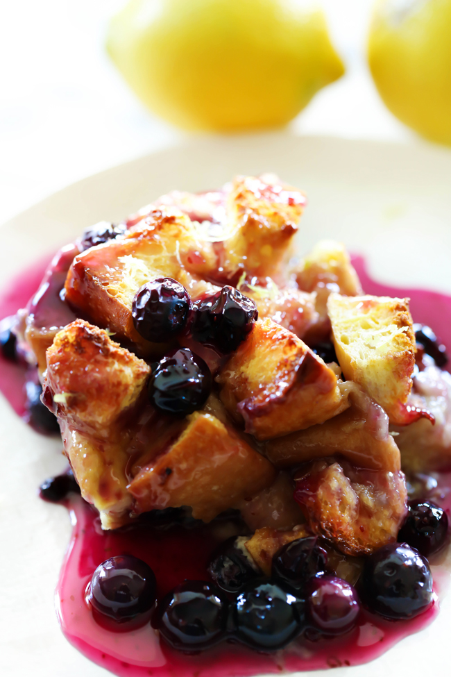 Overnight Lemon Blueberry French Toast Casserole Chef In