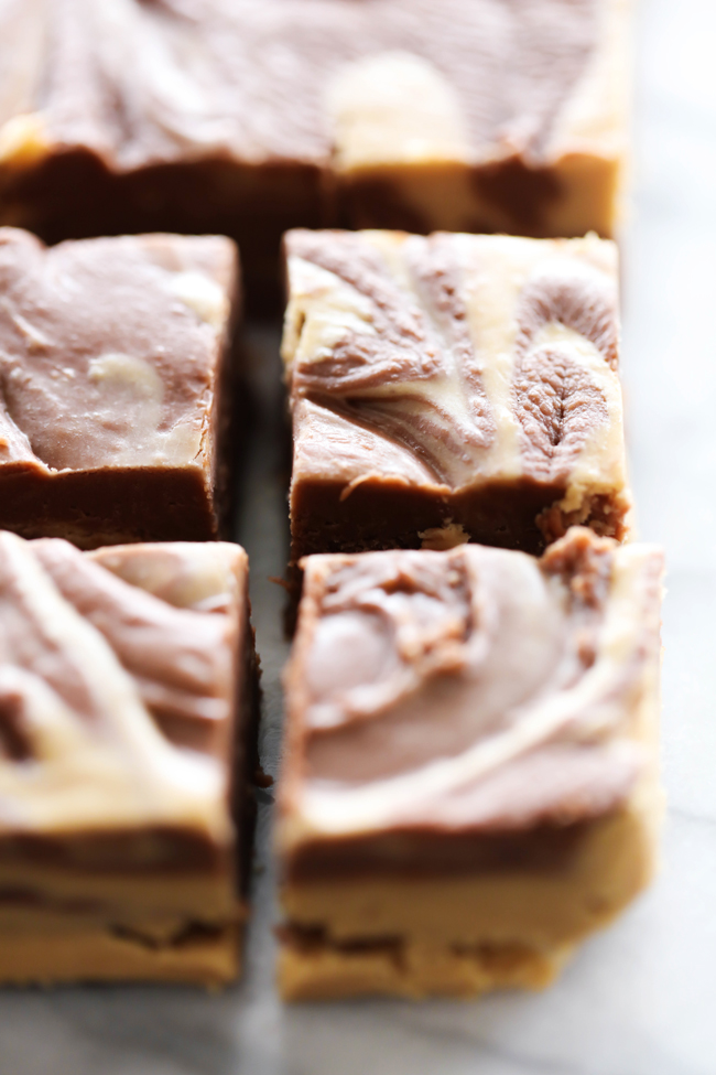 This Chocolate Peanut Butter Fudge is a wonderful and easy treat! It is smooth and creamy and is like a peanut butter cup in fudge form! Everyone who tries this recipe falls in love with it!