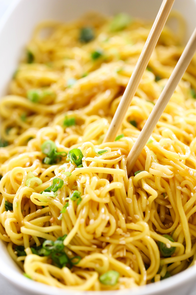 These Easy Sesame Noodles are a wonderful side dish. For such a simple side dish, they have a lot of delicious flavor packed in and are sure to be a hit at the dinner table!