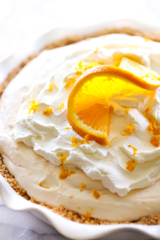 This Orange Creamsicle Pie is such a delightful summer treat. It is light in texture and has such a refreshing flavor.
