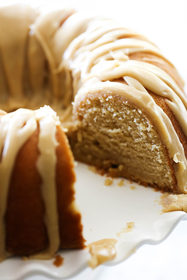This Caramel Bundt Cake is so moist and delicious. It has such a tasty rich caramel flavor and topped with an incredible caramel icing. It is so hard to stop at just one slice!