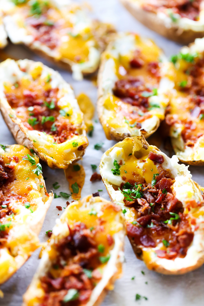 These Jalapeño Popper Potato Skins are a fabulous appetizer or side dish. It is jam packed with flavor with the perfect amount of heat and cool. These are a hit wherever and whenever they are served!