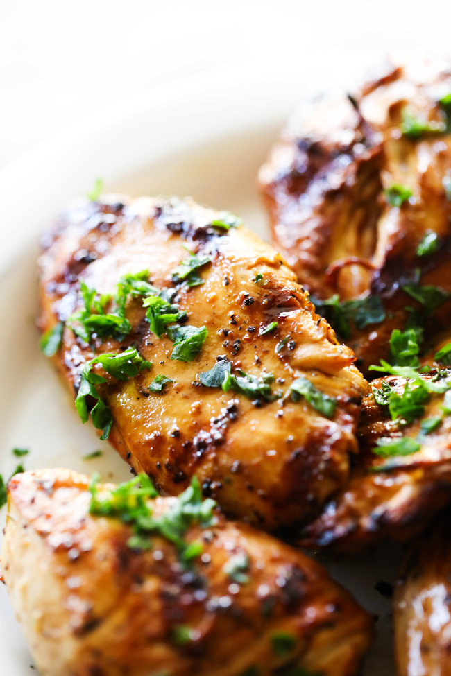 This Grilled Tangy Chicken has such a delicious punch of flavor and the marinade is loaded with yummy ingredients. It is perfect for busy days or when you want dinner in a hurry. It is a summertime staple at our home.