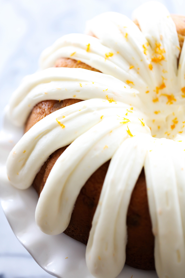 This Cranberry Orange Bundt Cake is the perfect holiday treat! This cake is so moist and the flavor is spectacular. This is sure to be a show stopper at your holiday gatherings!