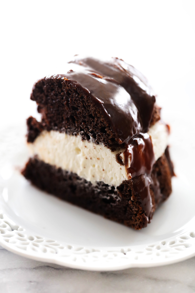 This Ding Dong Bundt Cake is unbelievably amazing! The chocolate cake is extremely moist and the cream filling is completely made from scratch and tastes incredible. It is topped with a rich chocolate ganache. This cake will become a new staple.