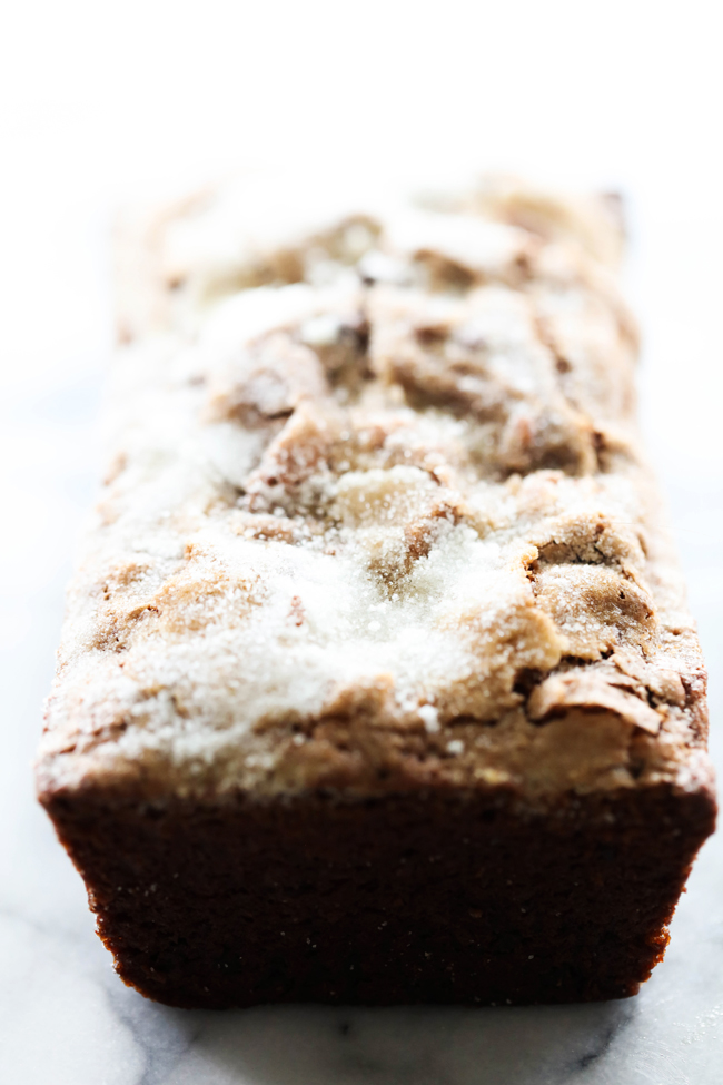 This Best Ever Chocolate Banana Bread is perfection. The bread itself is moist and tastes incredible. The banana and chocolate come together beautifully to create a new staple recipe to be made again and again. The sugar crusted topping adds so much texture to each bite. This is truly the best of the best when it comes to chocolate banana bread recipes!