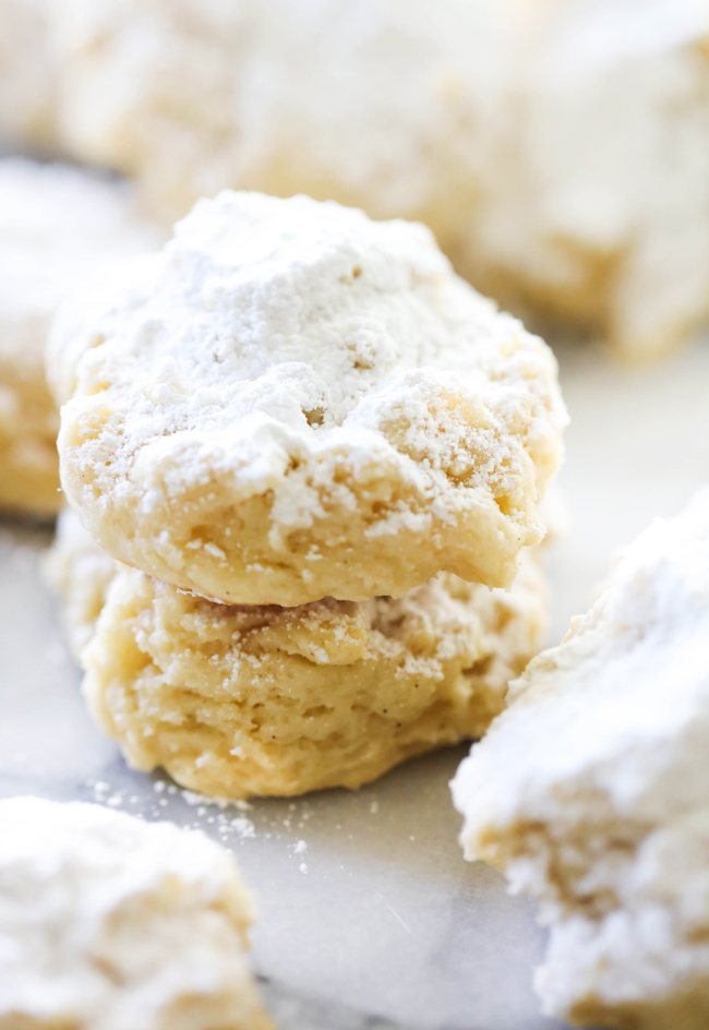 These Melt in Your Mouth Cheesecake Cookies are spectacular! They are soft, simple and truly melt in your mouth. These cookies are perfect for any occasion. The cream cheese really transforms the texture of these cookies.