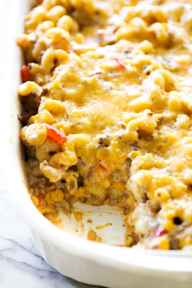 This Taco Pasta Casserole is loaded with flavor and delicious ingredients. It is creamy, cheesy and hearty. It is packed with beef, vegetables and a great blend of seasonings that combine to make it an extraordinary meal that the whole family will love!