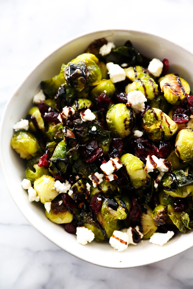This Roasted Brussels Sprouts with Craisins recipe is quite the spectacular side dish. The flavor is outstanding. Not only is it a beautiful presentation, but it will quickly become a new family favorite side dish.