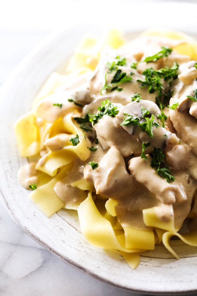 This Chicken Stroganoff is packed with flavor and is simple to make. Its the perfect meal and will be an instant family favorite!