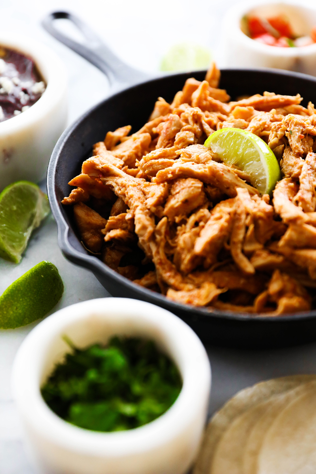 These Slow Cooker Chipotle Chicken Tacos are so simple and the flavor is outstanding. This meal has a minimal list of ingredients and is quick and tastes like restaurant quality.